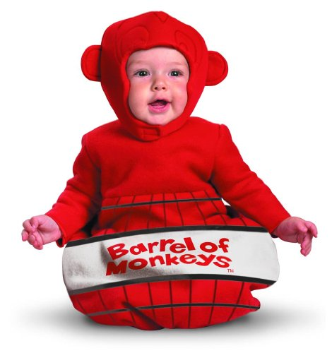 [Barrel of Monkeys Game Infant Baby Costume] (Barrel Of Monkeys Infant Bunting Costumes)