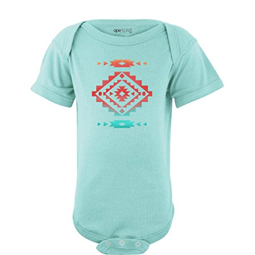 Apericots Baby Bodysuit With Cute Aztec Southwest Native American Print