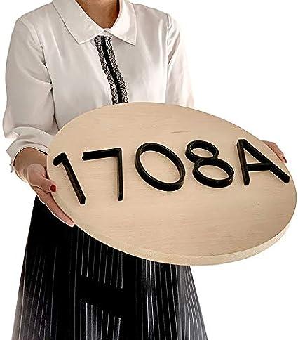 TYBXK Numeros casa Exterior Casa Flotante 12 cm N/úmero Letra A B C Nombre Placa de la Puerta Letras del Alfabeto Dash Raya Vertical Se/ñal 5 Inch.Zinc aleaci/ón Negro 741 Color : 5