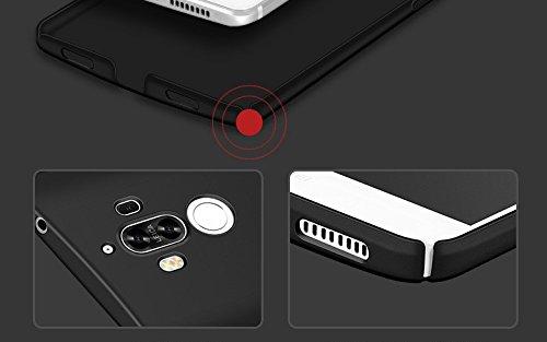 inShang funda para Huawei Mate 9 funda del teléfono móvil, anti deslizamiento, ultra delgado y ligero, Estuche, Cubierta, carcasa duro hecho en el material de la PC, frosted shell, cómodo Case Cover f negro