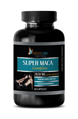 libido Enhancement Pills - Super MACA Complex - Improves Sexual Function - maca Root Capsules - 1 Bottle 60 Capsules by Private Label