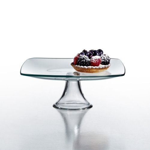 Style Setter Soho Pedestal Plate, 8-Inch, Clear