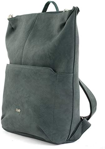 M mr8 Borsa Zaino Canvas-GRIGIO GRAFITE NERO Due Mademoiselle