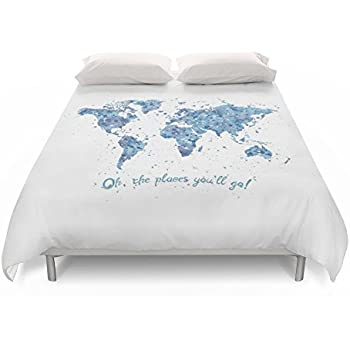 Amazon society6 gold world map duvet covers queen 88 x 88 society6 world map duvet covers queen 88 gumiabroncs Gallery