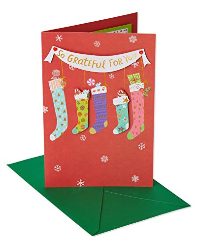 American Greetings Stockings Christmas Card for Mom with Foil