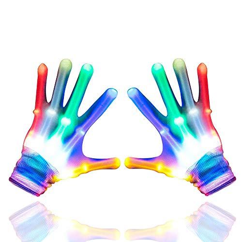 Toys for 4-5 Year Old Boys - Gifts for 5 Year Old Girls, Treasure Store Flashing LED Rave Gloves for Kids Party Supplies Headband Party Favors Birthday Gifts Toys for 3-15 Year Old Boys Girls