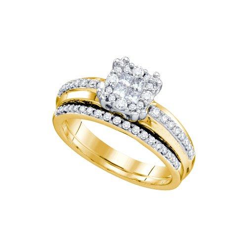 1/2 Total Carat Weight DIAMOND SOLEIL BRIDAL SET by Jawa Fashion