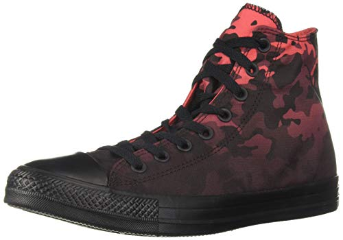 (Converse Men's Unisex Chuck Taylor All Star Camo High Top Sneaker, Sedona Red Black, 11 M)