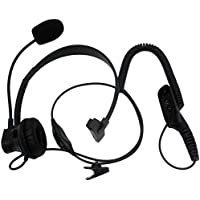 SUNDELY® Over Head Earpiece/Headset with Boom Mic & PTT-VOX Switch for Motorola Radio Walkie Talkie APX7000 DP4800 DGP6150 XiRP8668 XPR6500 Multi-pin