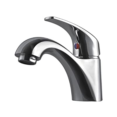 Ultra Faucets UF84100 Light Commercial Collection Simple Single-Handle Sink Faucet without Escutcheon, Chrome