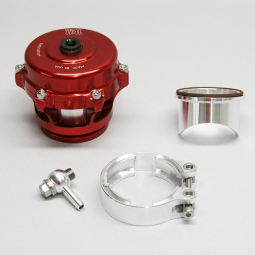 TiAL Q.11R Q Series Blow Off Valve 50mm BOV Red 11 PSI Spring Aluminum Flange by TiAL Sport (Tial Bov)