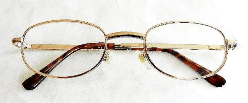 (3 PACK) Foster Grant +2.75 Goldl Wire Frame Reading Glasses (167) + FREE Cleaning ()