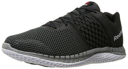 Reebok Men's Zprint Run Running Shoe, Black/Gravel/Tin Grey/Black Reflective/White, 10.5 M US