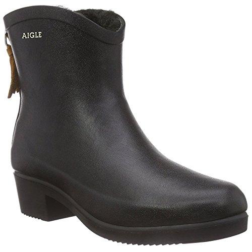 Aigle Miss Juliette Bottilon Fur Rubber Boot Noir UK5.5 EU39 US7 ()