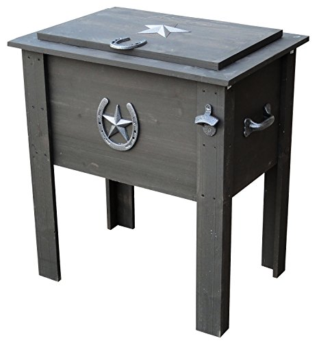 Leigh Country TX 93728 Cooler with Grey Wash Stain on Pine Wood, 54-Quart (Cooler Country)