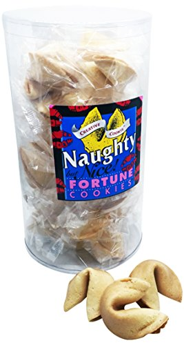 Naughty But Nice Adult Fortune Cookies Funny Gag Gifts 28-Count, Kosher and Nut Free - Fortune Cookie Favors
