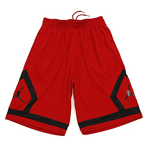 da Shorts Diamond Nike Basket rosso nero Flight qwxEB