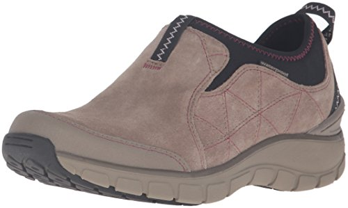 Clarks Womens Wave Slide Fashion Sneaker Taupe Suede
