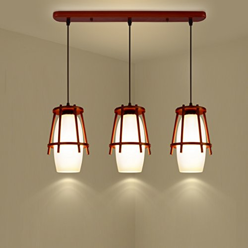 Round Wood Pendant Light in US - 5