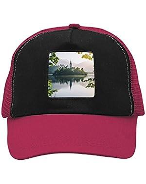 Unisex Summer Green Bled Lake Adjustable Classic Hiphop Hat Baseball Cap Snapback Dad Hat