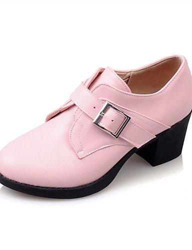pink Tacón GGX Casual pink 5 Tacones uk8 Semicuero Negro y Mujer Tacones eu42 us10 uk8 Blanco eu42 black Trabajo Rosa Robusto 5 cn43 us8 Vestido 5 5 cn40 us10 uk6 Oficina 5 cn43 5 eu39 5zw1rzq