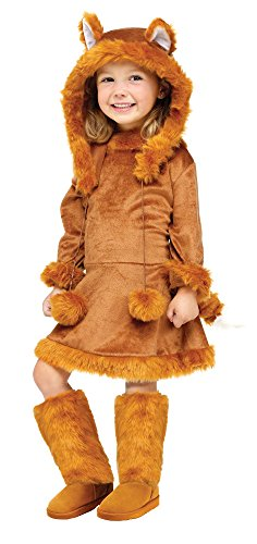 Fun World Costumes Baby Girl's Sweet Fox Toddler Costume, Brown, Large