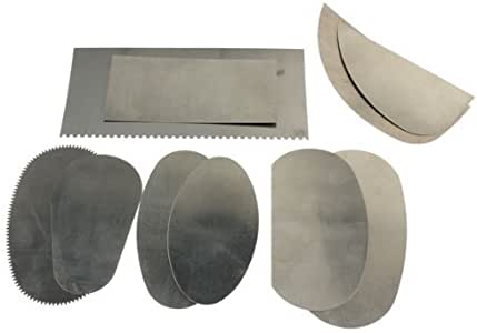 TOOGOO(R)10pcs raspador de acero inoxidable para arcilla artes de ceramica de artesania de escultura