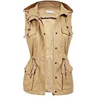 5fd6030996924 Macr Steve Womens Lightweight Sleeveless Military Anorak Safari Utility Vest