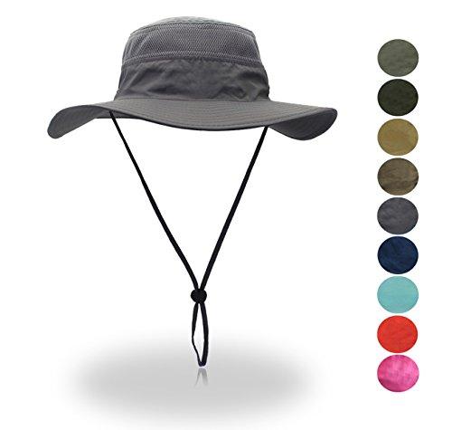 belababy Outdoor Sun Hat Quick-Dry Breathable Mesh Hat Camping Cap Dark Gray