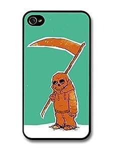 AMAF ? Accessories Death with Scythe Skull Kid Original Art Illustration case for iPhone 4 4S