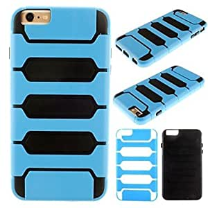 QHY 2 in 1 Robot Design PC Full Body Case for iPhone 6 Plus (Assorted Colors) , Gray
