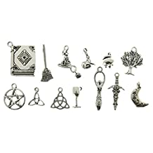 AVBeads 13 Piece Mixed Pagan Wiccan Charms Set