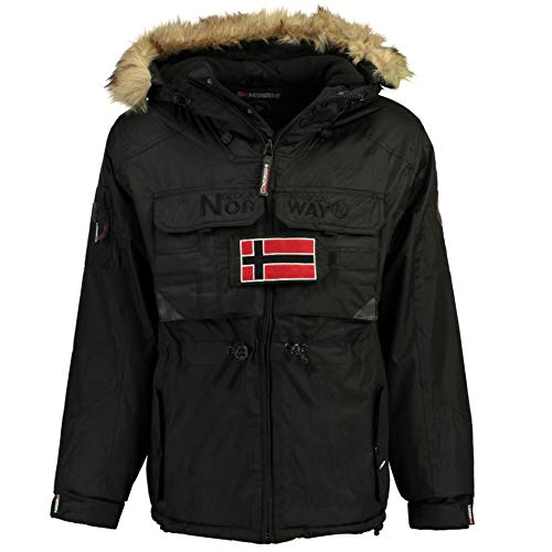 056 Norway Noir Men Capuche Parka Bantou À Geographical YxvHRY