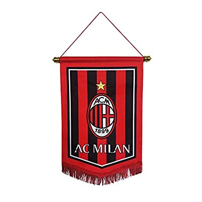 "Louishop Footable Club Indoor and Outdoor Flags Vivid Color Hanging Flags Decor for Bedroom/Club/Bar/Event 15""x9.4"" (AC Milan, 15""x9.4"")"