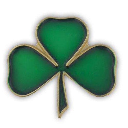 PinMart Lucky Green Shamrock 3 Leaf Clover St. Patrick's Day Enamel Lapel Pin by PinMart