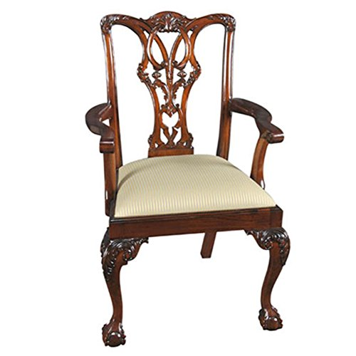 Ball Claw Furniture - NDRAC048 PAIR of Ball and Claw Mahogany Arm Chairs by NIAGARA FURNITURE