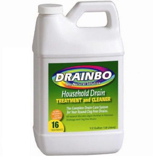 Drainbo Household Drain Treatment and Cleaner, 1/2-Gallon