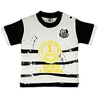 Rêve D'or Sport - Camiseta Esporte Energia Santos Menino, 2, Branco/Preto