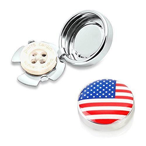 USA Flag Button Covers - Wear the Stars and Stripes on any Shirt (CS-USA US)