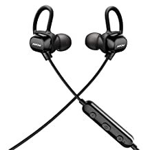 Bluetooth headphones, Mpow Echanter Bluetooth Earphones, Lightweight 0.46oz Wireless Bluetooth Earbuds, IPX7 Sweatproof CVC6.0 Calling Noise Canceling Bluetooth Headset with Mic, V4.1 Compatible with All Smartphones and Bluetooth Device for Gym Sports Running (3 Earbuds/3 Ear Hooks/1 Bag included)