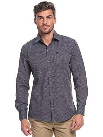 99 Blue & Khaki Cotton Shirt Neck Shirts For Men