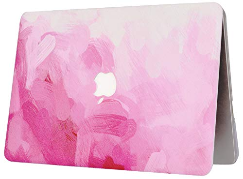 """KECC Laptop Case for Old MacBook Pro 13"""" Retina (-2015) w/Keyboard Cover Plastic Hard Shell Case A1502/A1425 2 in 1 Bundle (Pink - Water Paint)"""