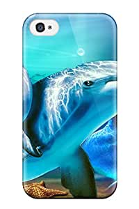 Leslie Hardy Farr's Shop Perfect Tpu Case For Iphone 4/4s/ Anti-scratch Protector Case (dolphins)