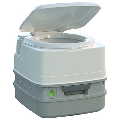 (Thetford Porta Potti 260P MSD Marine Toilet with Piston Pump, Level Indicator, and Hold-Down Kit)