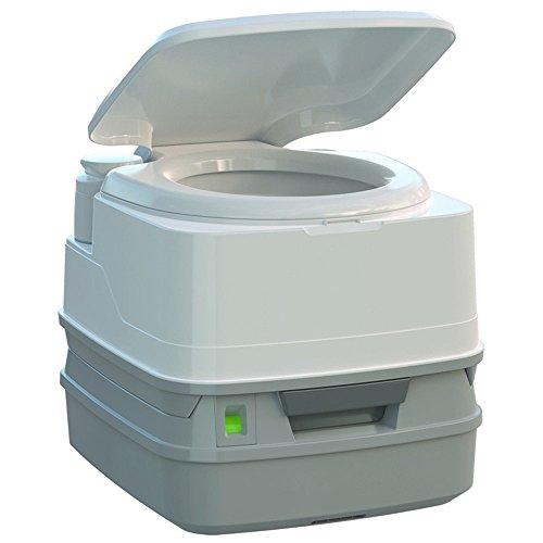 Thetford Porta Potti 260P MSD Marine Toilet with Piston Pump, Level Indicator, and Hold-Down Kit