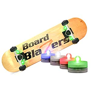 Board Blazers The Original LED Underglow Lights for Skateboards, Longboards, Self Balancing Scooters & Kick Scooters
