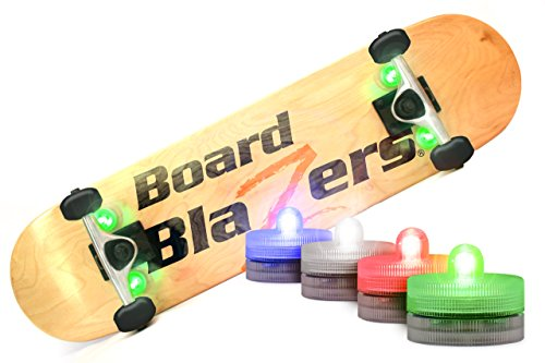 Board Blazers, The Original LED Underglow Lights for Skateboards, Longboards, Self Balancing Scooters & Kick Scooters (Tape Lightning Grip Skateboard)