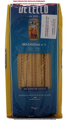 DE CECCO Mafaldine N° 2 12 x 500g = 6000g / Teigwaren aus Hartweizengrieß