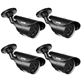 ZOSI 4 Pack 1080P HD 1920TVL Hybrid 4-in-1 TVI/CVI/AHD/960H CVBS Weatherproof Security Cameras Kits,3.6mm lens,120ft IR Distance, Aluminum Housing For HD-TVI, AHD, CVI, and CVBS/960H analog DVR