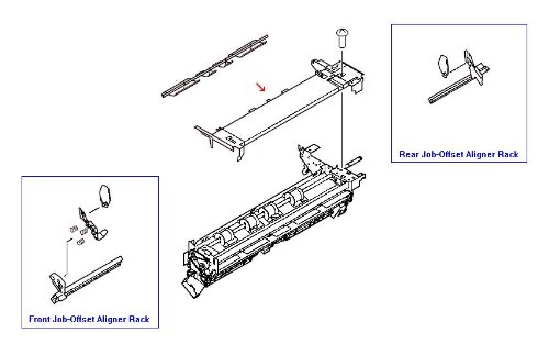 Paper Roller Path - HP 4A1-7519-000CN Internal paper path cover (dispose roller assembly cover) - Moun
